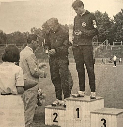 Hans Werner Steinberger bei der Siegerehrung.