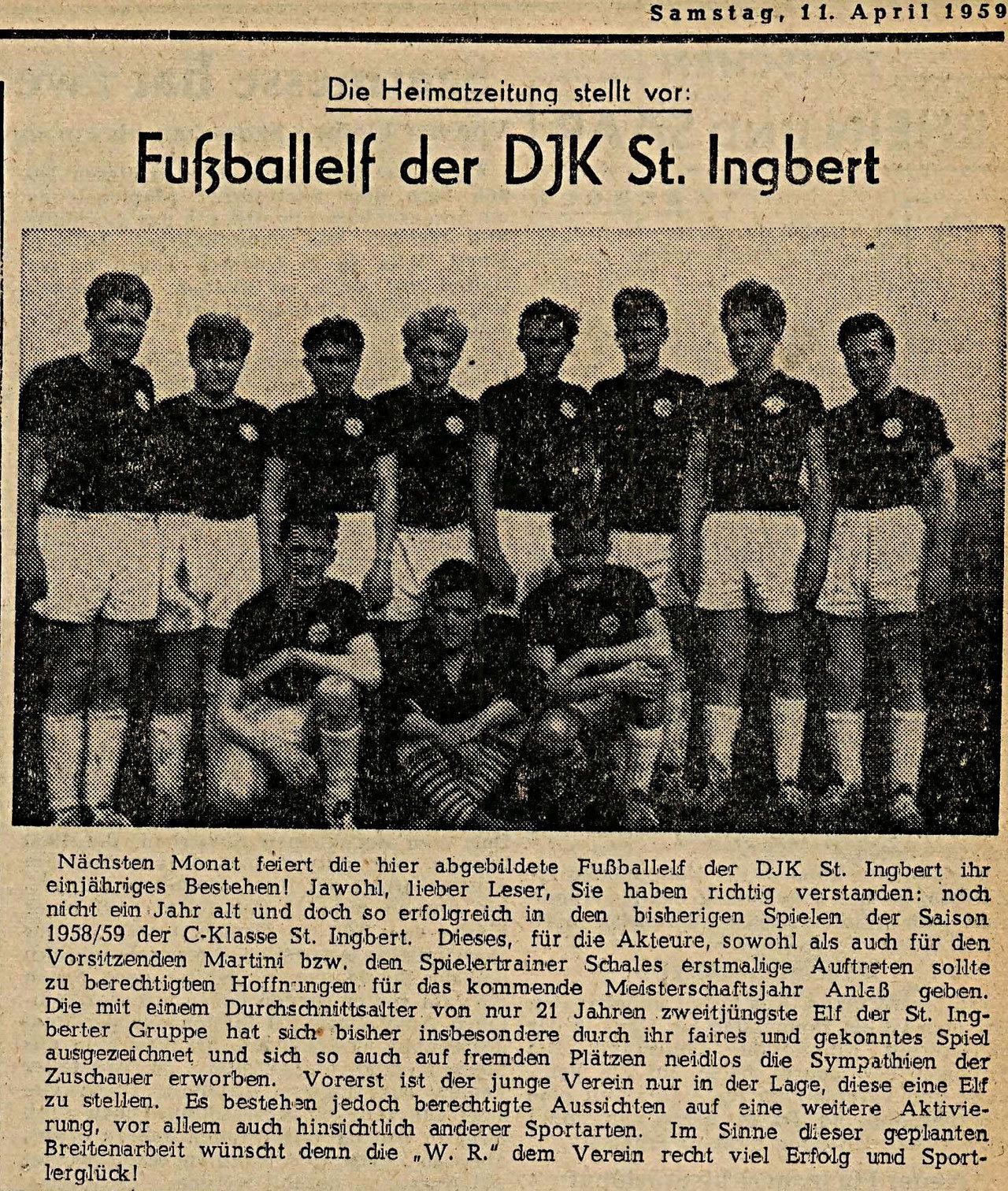 Ein Artikel in der Westpfälzischen Rundschau vom 11. April 1959