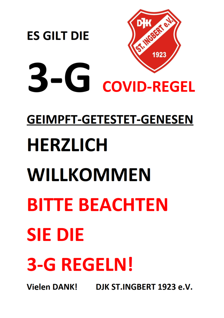 3G Regeln in Coronazeiten